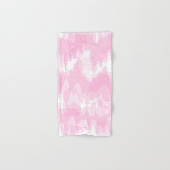 Blossom - Blush pink abstract art Hand & Bath Towel