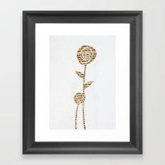 Papercut Flower 1 Framed Art Print