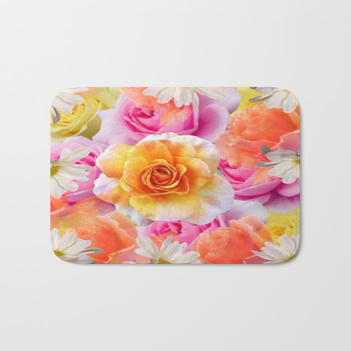 Spring Flowers Galore Absstract Bath Mat