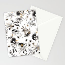 Whimsical flowers Stationery Cards