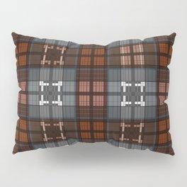 Dark black and blue plaid checkered Scandinavian design Pillow Sham
