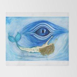 Blue eye Throw Blanket