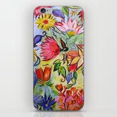 Pastel Flower Swirls iPhone & iPod Skin