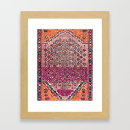 Traditional Moroccan Berber Artwork Design E17 Framed Art Print