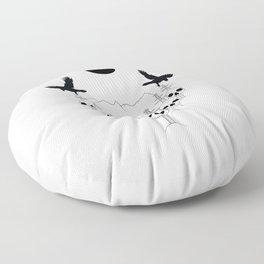 A Journey's End Floor Pillow