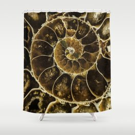 Detailed Fossil Shower Curtain