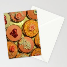 Heart and Floral Cupcakes Stationery Cards