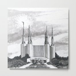 Washington D.C. Temple Metal Print