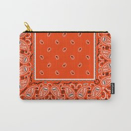 Classic Orange Bandana Carry-All Pouch