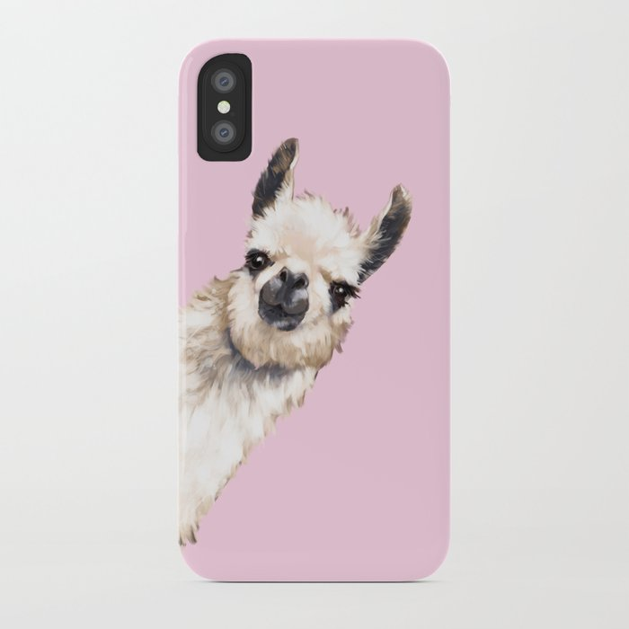 sneaky llama iphone case