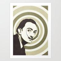 salvador dali Art Prints featuring Salvador Dali by Kristjan Lyngmo