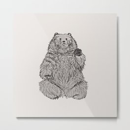 Hello Bear Metal Print