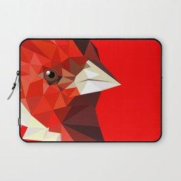 Cardinal bird Geometric bird art Red Nature Laptop Sleeve