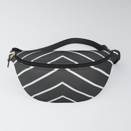 Diamond Series Pyramid White on Charcoal Fanny Pack
