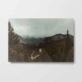 Viewpoint Along the Valley Metal Print