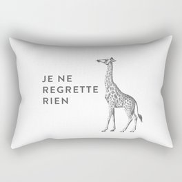 JE NE REGRETTE RIEN  I Regret Nothing Rectangular Pillow