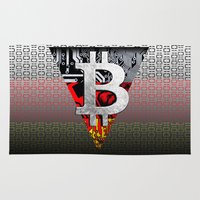 germany Area & Throw Rugs featuring bitcoin germany by seb mcnulty