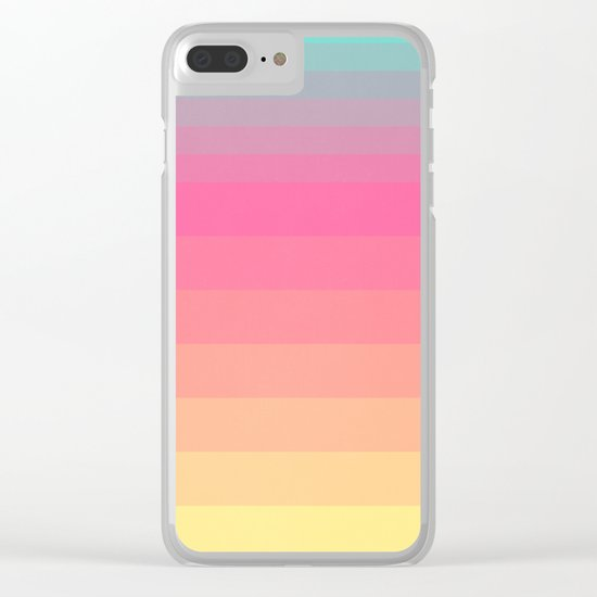 Neon Dream Clear iPhone Case