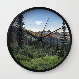View of the Tatoosh Range Wall Clock