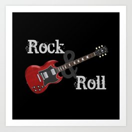 Rock and Roll Guitar Art Print