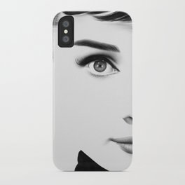 Audrey Hepburn Half Series iPhone Case