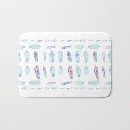Watercolor Gemstones Bath Mat