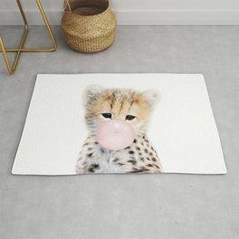 Bubble Gum Cheetah Cub Rug