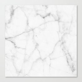 Pure Solid White Marble Stone All Over Canvas Print