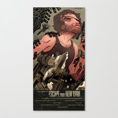Escape From New York Poster Canvas Print