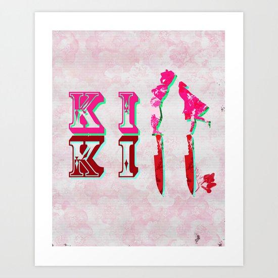 kiss/kill Art Print