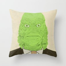 Young Professional from the Black Lagoon Throw Pillow
