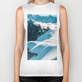 Snow Top Mountains (Color) Biker Tank