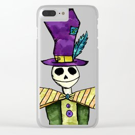 Mad Hatter Clear iPhone Case