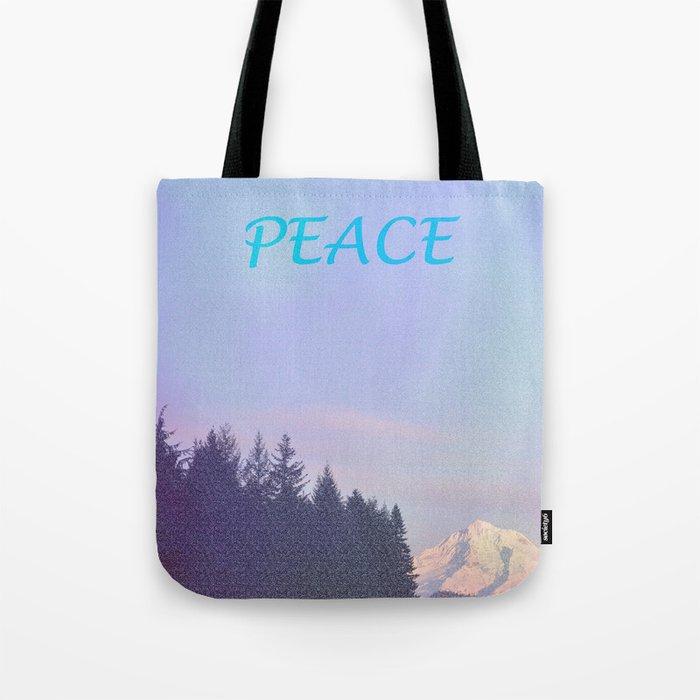 PEACE ON MOUNT HOOD Tote Bag