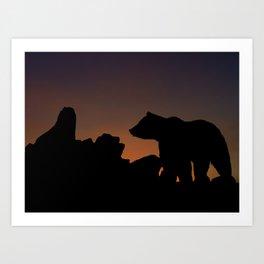 Sunset Trek  Art Print