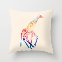 Watercolor Giraffe Throw Pillow