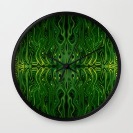 Corn Field Squid by Chris Sparks Wall Clock