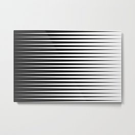Black and White Tapered Stripes Metal Print