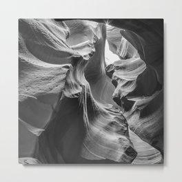 ANTELOPE CANYON Rock Formation | monochrome Metal Print