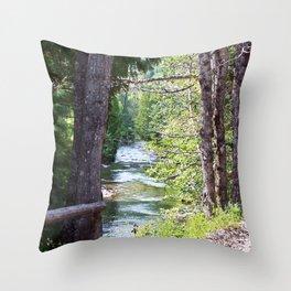 Along the River Throw Pillow