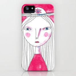 Hat Girl iPhone Case