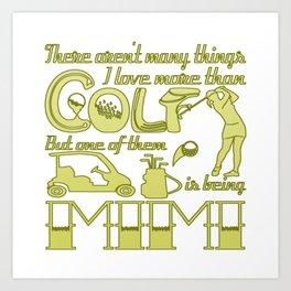 Golf Mimi Art Print