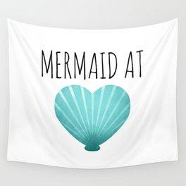 Mermaid At Heart  |  Teal Wall Tapestry