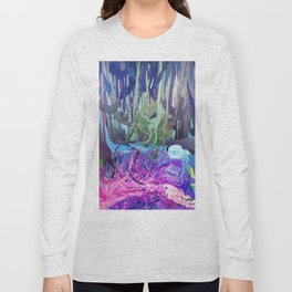 405 - Abstract Colour Design Long Sleeve T-shirt