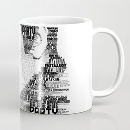 King of Rock Elvis Presley Typography Portrait Coffee Mug