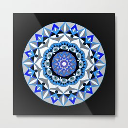 My Peace Mandhala | Secret Geometry | Energy Symbols Metal Print