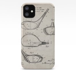 Golf Driver Patent - Golf Art - Antique iPhone Case