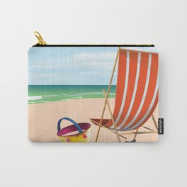 Pagham Beach West Sussex travel poster, Carry-All Pouch
