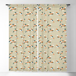 Birds on wire Blackout Curtain