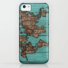 Wood Map Slim Case iPhone 5c
